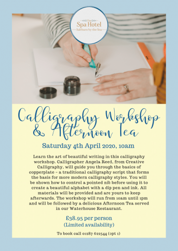 Calligraphy Workshop & Afternoon Tea april 2020 -1